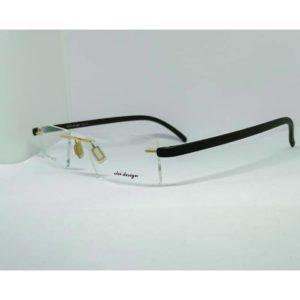police design rimless glasses